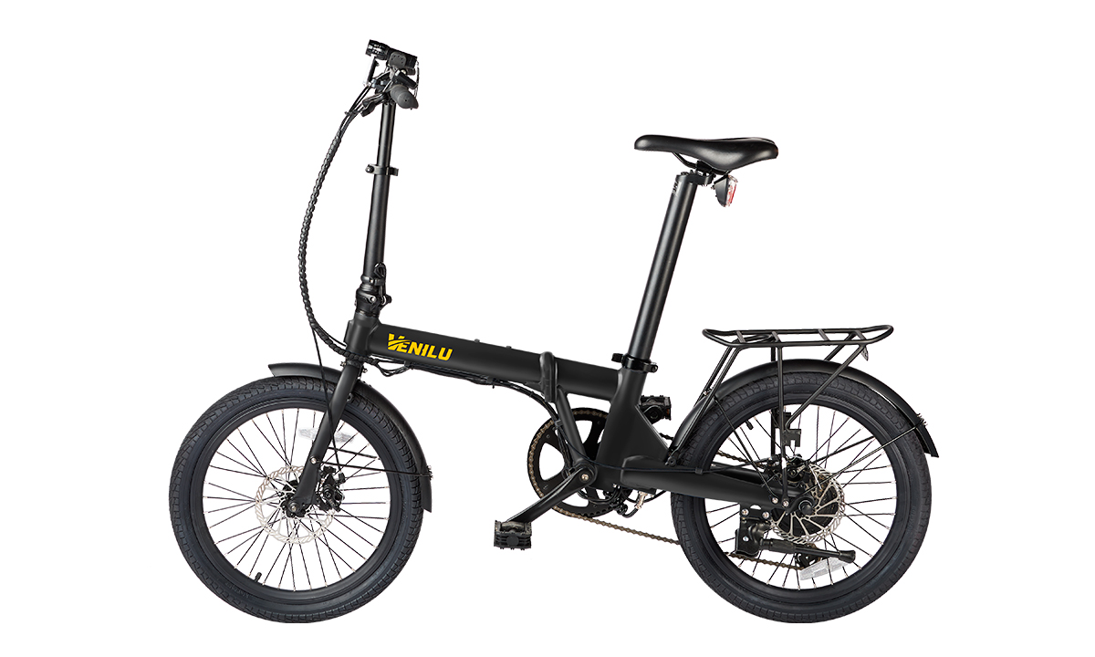 Venilu Vida Black – Folding E-Bike 20″ 16kg