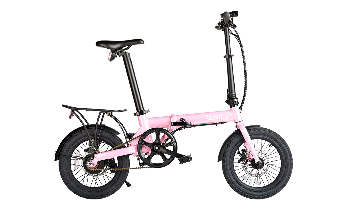Venilu Urbana Pink – The Lightest Folding E-Bike 16″ 13,6kg