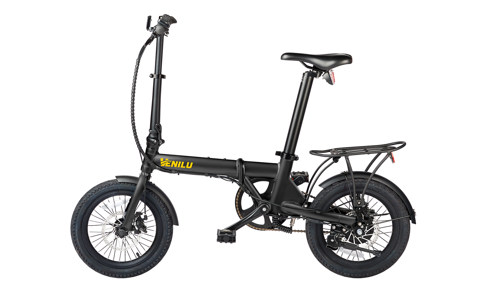Venilu Urbana Black – The Lightest Folding E-Bike 16″ 13,6kg