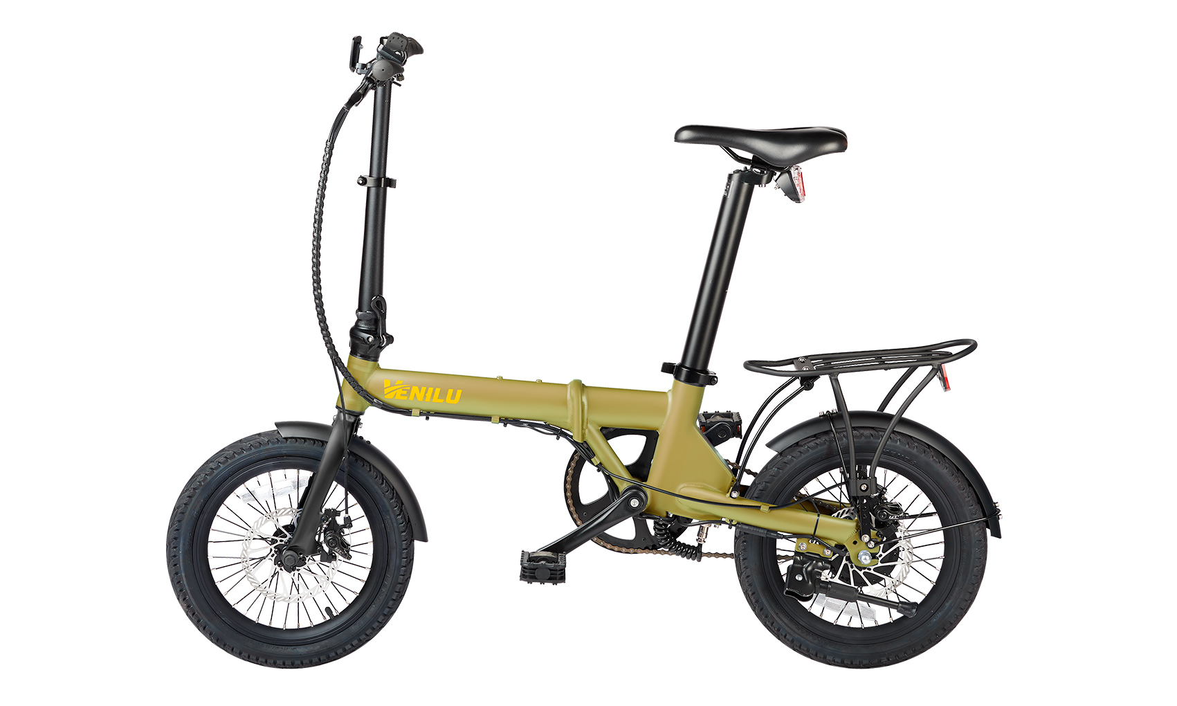 Venilu Urbana Kaki – The Lightest Folding E-Bike 16″ 13,6kg